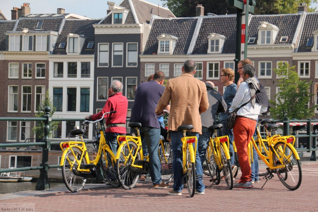 bike ride in amsterdam